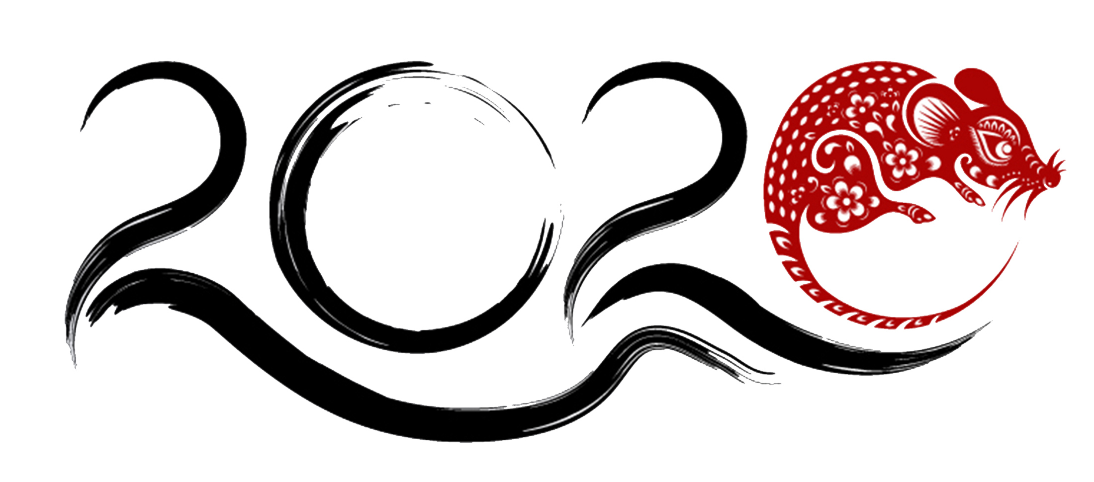 Logo depicting the 2020 Lunar New Year, Year of the Rat.