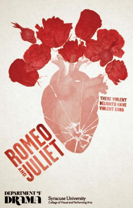 graphic of flowers with words Romeo and Juliet