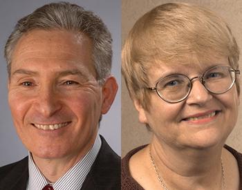 Stuart Brown and Margaret Hermann headshots