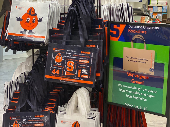 display of resusable bags