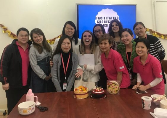 group of employees from Mother's Choice nonprofit in Hong Kong