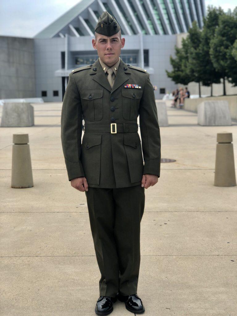 Man in Marines uniform