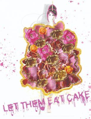 """Let Them Eat Cake"" fashion design by Maya Campos"