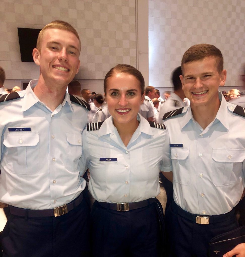 Three cadets in uniform