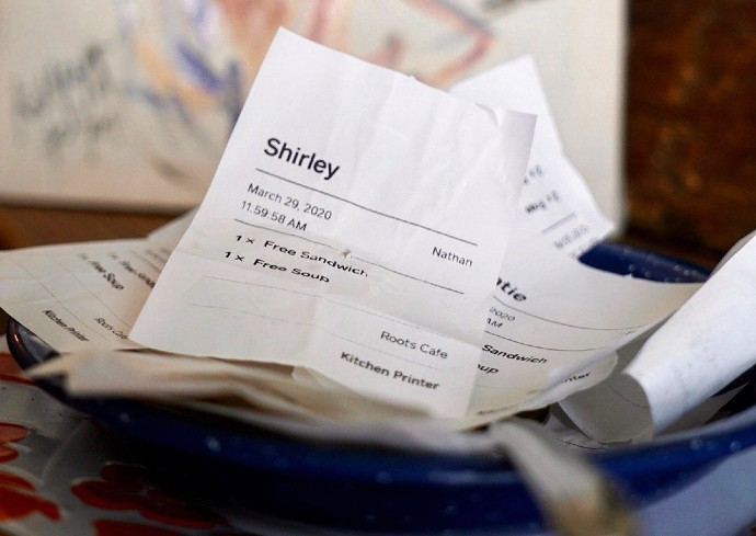 slips of paper in a bowl
