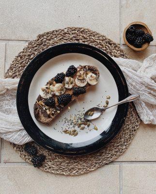 Toast on plate