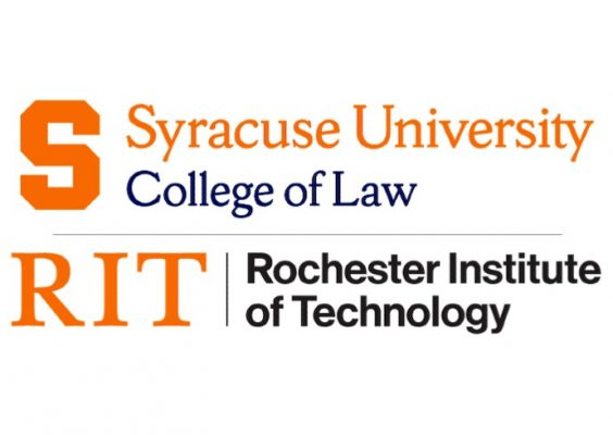 lock up of Syracuse University College of Law and Rochester Institute of Technology icons