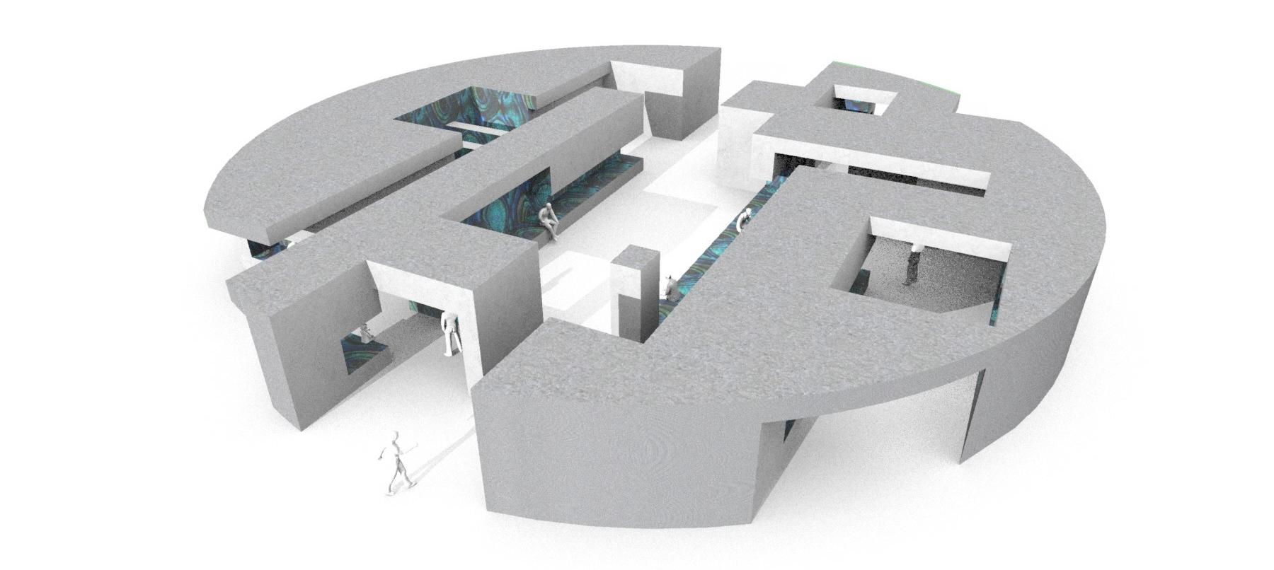 computer rendering of student pavilion design