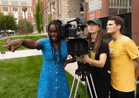 students from Syracuse University filmmaking program