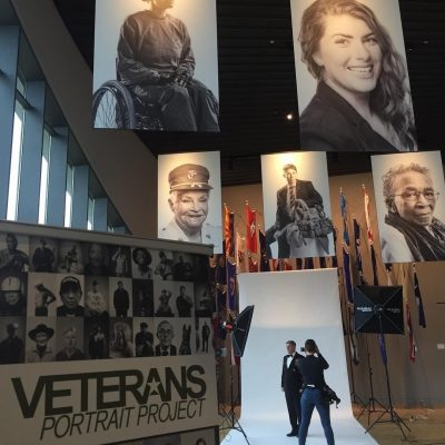 photo of museum interior Veterans Portrait Project