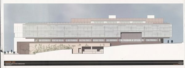 architectural drawing of Newhouse building elevation
