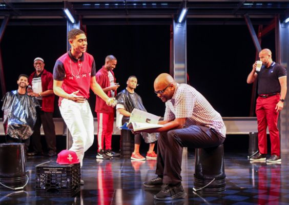 "The cast of ""Thoughts of a Colored Man"" at Syracuse Stage in the 2019-20 season"