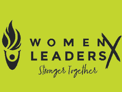 graphic stating Women Leaders Stronger Together