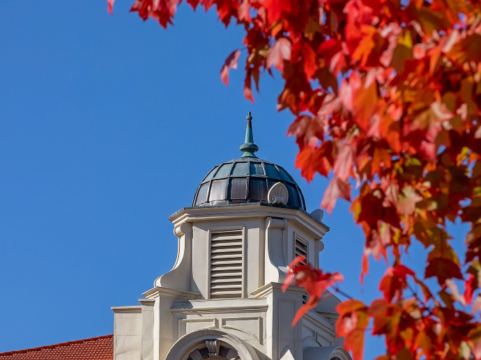 fall campus shot