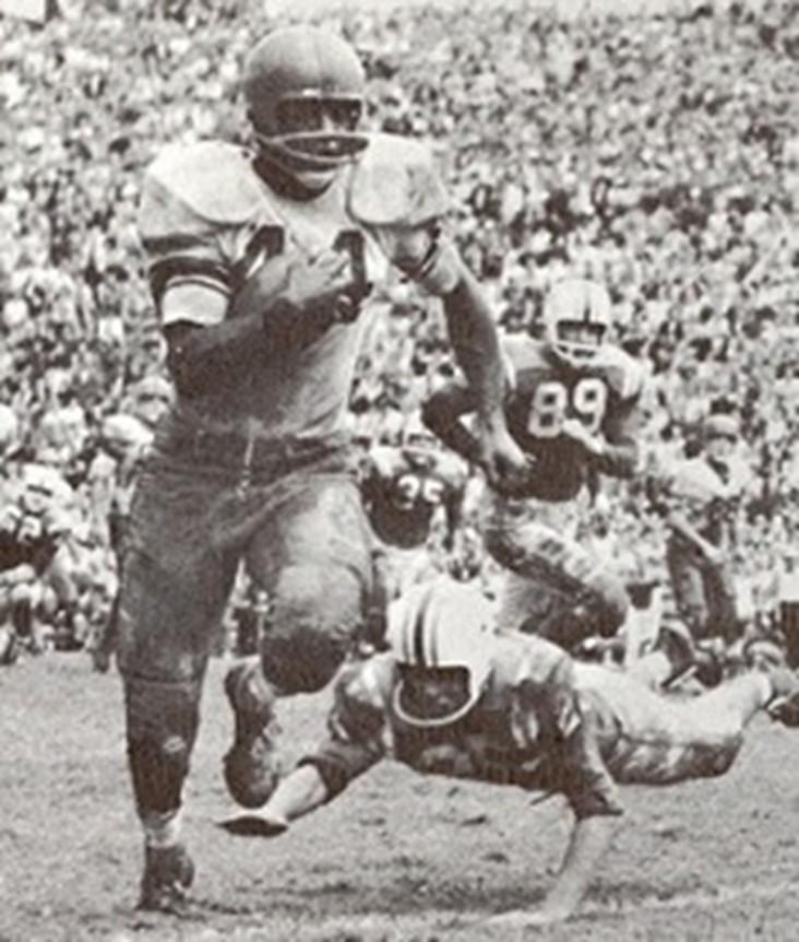 Ernie Davis on football field