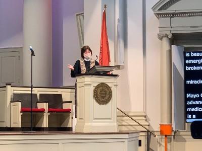 Chaplain Gail Riina at Hendricks Chapel