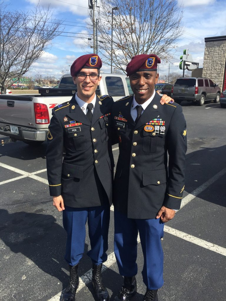 two people in military uniforms