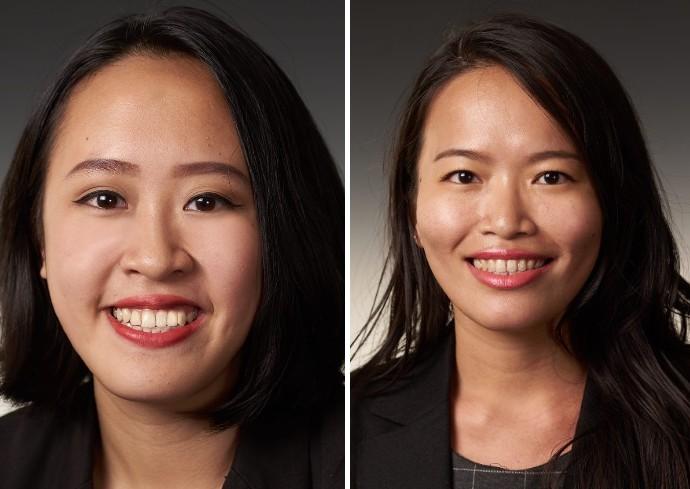 headshots of Nguyen Phan Bao Linh and Yu En Hsu