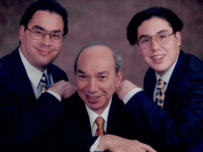 Elias Savada, Morton Savada and Daniel Savada in a family portrait from 1996