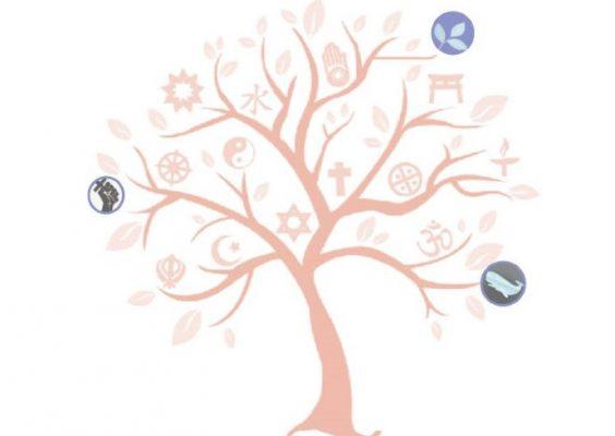 Tree with interfaith icons