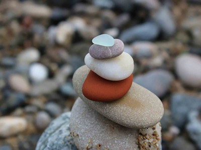 rocks stacked on top of each other