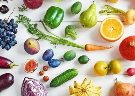 colorful array of fruits and vegetables
