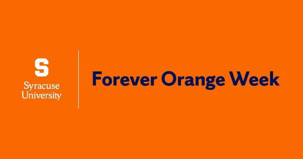 graphic of Forever Orange Week