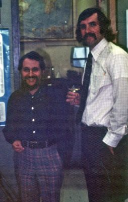 archival photo of Peter Robison and Dick Levy