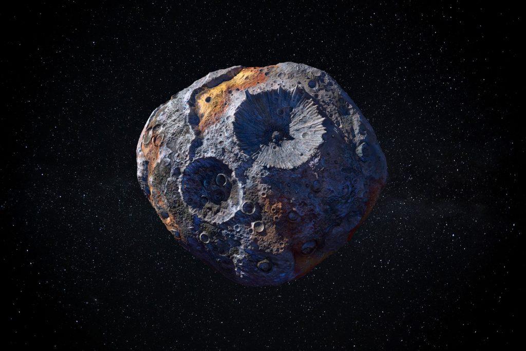 artist rendering of asteroid