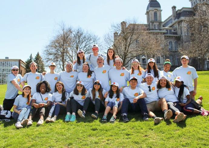 Orange Seeds student volunteers posing on campus