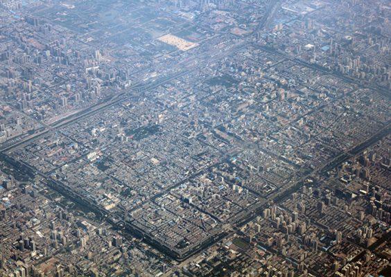 Aerial view of Xian, Chian