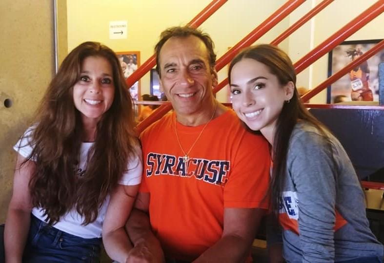Carolyn, John and Gianna Mangicaro at the stadium