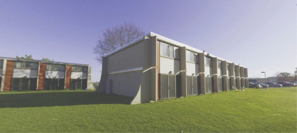 """exterior view of South Campus """"living lab"""" at Winding Ridge"""