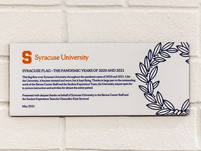 Plaque presented at event