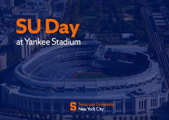 graphic with words SU Day at Yankee Stadium