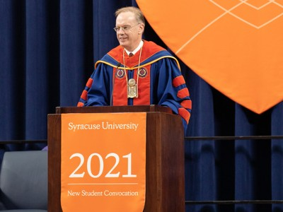 news.syr.edu: Chancellor Kent Syverud Delivers Welcome Message at the New Student Convocation