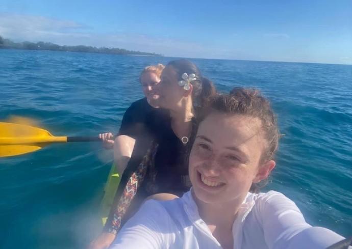 Women on kayak