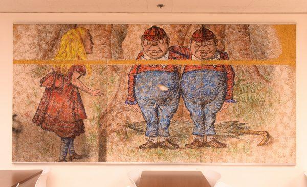 mural de personajes