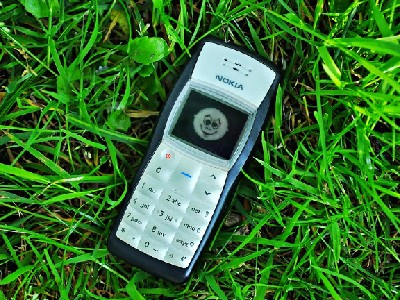 stock image of a dated Nokia cell phone