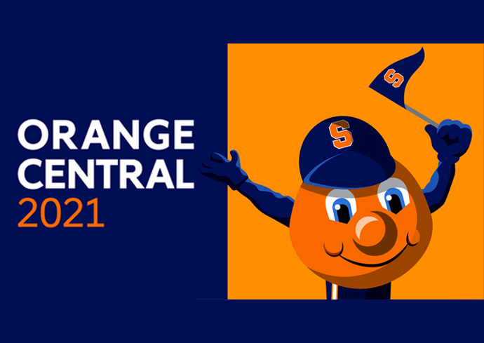graphic with Otto the Orange and words Orange Central 2021