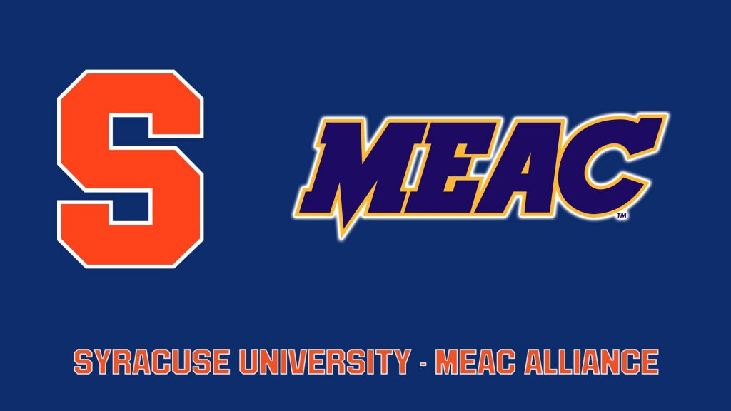 graphic with Syracuse University and MEAC logos
